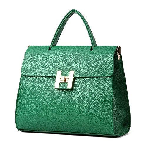 koson-man-stile-vintage-da-donna-con-fibbia-e-tracolla-maniglia-superiore-borsa-tote-bags-verde-verd