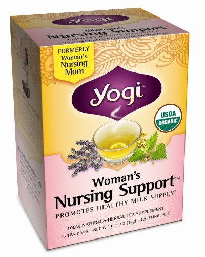 Yogi Woman's Nursing Support, Herbal Tea Supplement, 16-Count Tea Bags (Pack of 6)