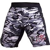 Camo Gray MMA Grappling Piranha Gear Board Shorts, Small