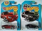 おもちゃ 2014 hot wheels ホットウィール Factory Sealed Set Exclusive - Alfa romeo アルファロメオ 8C Competizione (Red & Black) Set of 2! ミニカー モデルカー ダイキャスト 模型 [並行輸入品]
