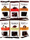 Marich Chocolates 6-Flavor Variety: One Bag Each in a BlackTie Box (6 Items Total)