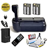 Opteka Battery Pack Grip / Vertical Shutter Release for Canon EOS 5D Mark II Digital SLR Camera with 2 LP-E6 Batteries (4800 mAh Total Power) with Opteka RC-4 Remote Control And More!