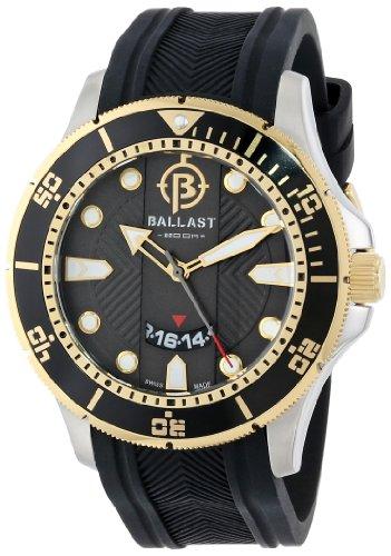 Ballast Men's BL-3114-09 Vanguard Analog Display Swiss Quartz Black Watch