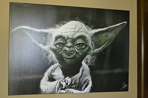 Star-Wars-Yoda-Jedi-Master-Caricature-Limited-Edition-1-of-20-Giclee-on-Canvas-Artwork-Signed-Numbered-Personalized-Certificate-of-Authenticity-Ready-to-Hang-Home-Office-Wall-Decor-Gift