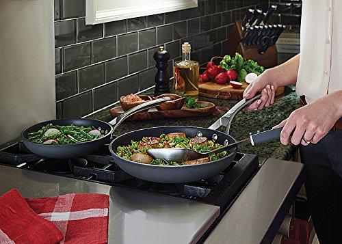 "Calphalon Signature Hard Anodized Nonstick Omelet Fry Pan Set, 8""/10"", Black"
