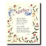 Motivational Poem Mother Angel Mom Flower Wall Picture 16x20 Art Print