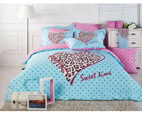 Pink Leopard Print Bedding front-322788