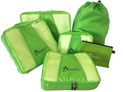 Travel Packing Cubes  6 Eco Luggage  Large Set ofOrganizers