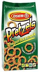 Osem Sesame Coated Pretzel Rings, 10.5 Ounce (Pack of 12)