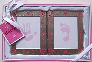 My First Handprint & Footprint Frame Set (Girl - Pink)