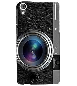 PrintVisa Travel Camera 3D Hard Polycarbonate Designer Back Case Cover for HTC Desire 820