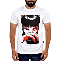 Glittarati's Men's White printed Tees (Medium)