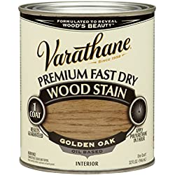 Rust-Oleum 262003 Varathane Premium Fast Dry Wood Stain, Golden Oak, 32-Ounce