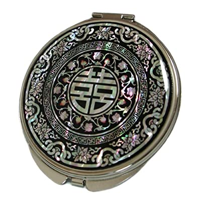 Best Cheap Deal for Mother of Pearl Chinese Charm Magnifying Compact Cosmetic Pocket Purse Makeup Mirror, 3.7 Ounce by Antique Alive - Free 2 Day Shipping Available