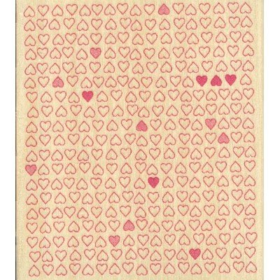 Tiny Heart Pattern Wood Mounted Rubber Stamp (H3786)