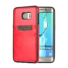 "buy [For Samsung Galaxy S6 Edge Plus G9280 5.7""] Arcraft(Tm) Ultra Soft & Slim / Cowboy Card Slot Holder / Premium Leather Wallet Tpu Base Case Cover"