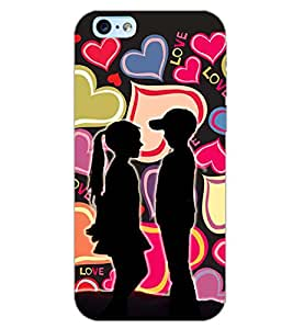 PrintDhaba LOVE COUPLE D-6571 Back Case Cover for APPLE IPHONE 6 PLUS (Multi-Coloured)