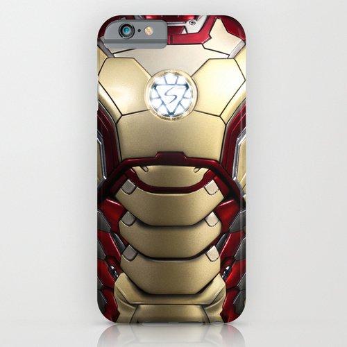 iPhone6ケース society6 iron/man mark XLIIアイアンマン アベンジャーズ デザイナーズiPhoneケース