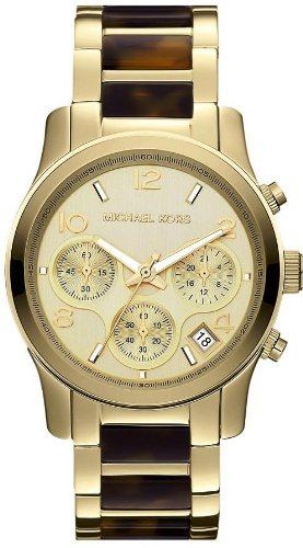 Michael Kors Runway Chronograph Gold-Tone Ladies