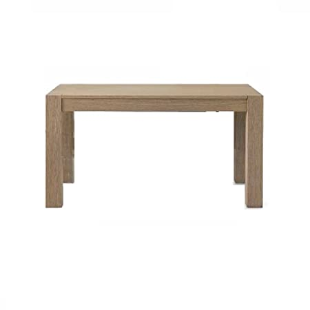 Sepia Oak wire brush finish Extending Table with 2 extra leaves each 50 cm, Contemporary Style - Dim. 180 x 90 x 77