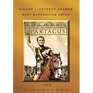 Spartacus starring Tony Curtis (DVD).