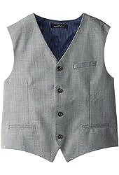 Calvin Klein Big Boys' Sharkskin Blue Deco Vest