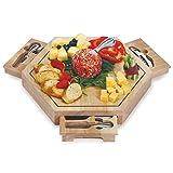 Picnic Plus Bergamo Cheese Board Wood 14.5 X 14.5 X 2 - Picnic Plus PSM-172