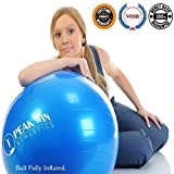#1 Rated Anti-burst Exercise and Stability Ball with Pump, Training Guide, and 100% Lifetime Guarantee. [Scroll Down for Details in the Description]