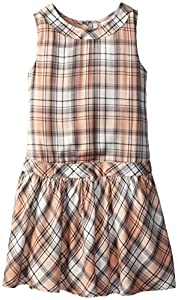 Pumpkin Patch Big Girls' Lisa Check Dress, Tropical Peach, 10