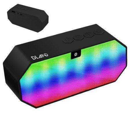 Bluetooth Speaker, DLAND Portable éclairage changeant de couleur LED sans fil HI - FI Stéréo Surround son Président haut-parleur pour la maison et extérieure Parti / Plage / pique-nique