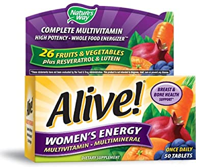 Nature's Way, Alive!, Women's Energy, Multivitamin ? Multimineral, 50 Tablets