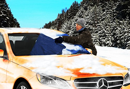 Zone Tech Car Windshield Cover Protector - Blue Snow Sleet Ice Cover Premium Quality Windshield Car Protector in a Self-Convertible Storage Pouch (Flash Back For Rear Bumper compare prices)