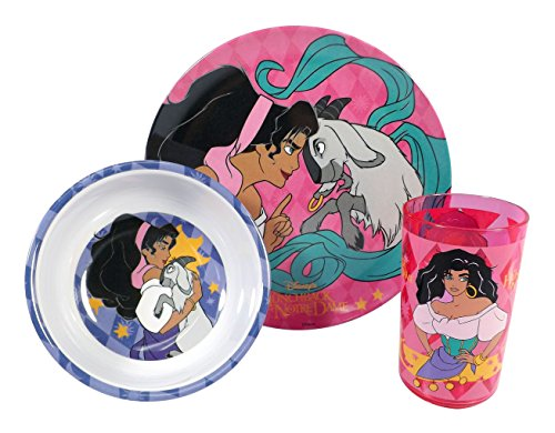 Disney Esmeralda Hunchback of Notre Dame Childrens 3 Piece Dinnerware Gift Set - Plate, Bowl, Mug - 1