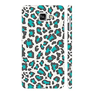Enthopia Designer Hardshell Case White & Blue Cheetah Back Cover for Samsung Galaxy A3 (2016)