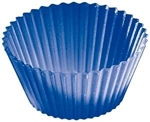 LURCH Patisserie Silikon Muffin-Backförmchen 12-er blau