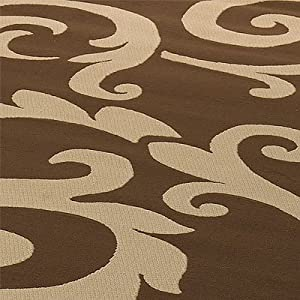 Flair Rugs Retro Classics 8033 Rug, Chocolate/Latte, 120 x 160 Cm from Flair Rugs
