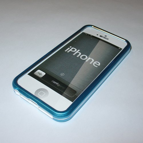 High Quality - Metal Hybrid Case For Iphone 5S (Blue)