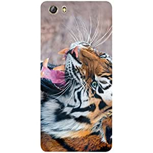 Casotec Tiger Aggression Design 3D Printed Hard Back Case Cover for Gionee Marathon M5 lite