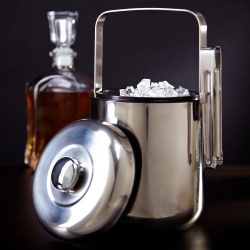 the-sharper-image-stainless-steel-ice-bucket-and-tongs-13-quart-with-tong-compartment-by-the-sharper