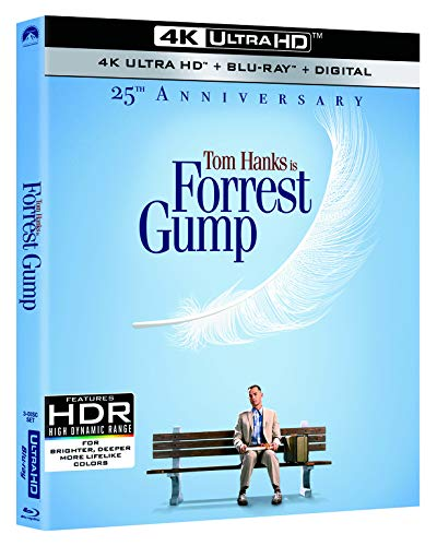 4K Blu-ray : Forrest Gump (25th Anniversary) (With Blu-ray, Anniversary Edition, 4K Mastering, Remastered, Widescreen)
