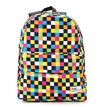 ... Middle School Girls Cool Rainbow Checkered Books Bags -Large: Clothing