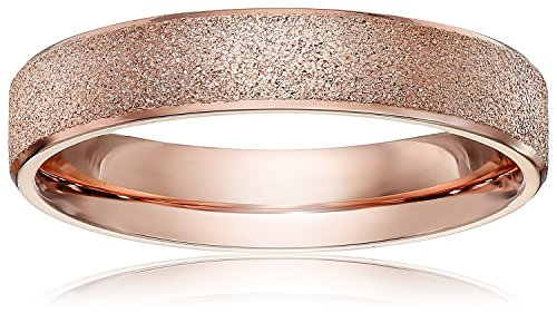 Athena Jewelry Titanium Series Brand New 4mm Women's Titanium Rose Gold Wedding Band Ring Size 8