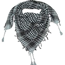 Craftshub Grey Desert Arafat Scarf - Stylish Arafat desert scarf for both men and women