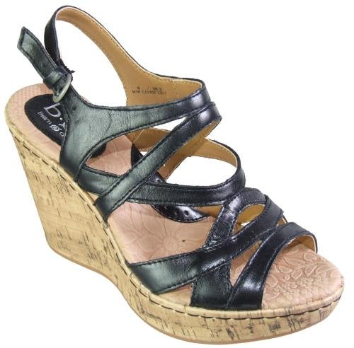Women's BOC by Born, Brygida strappy high wedge Sandals BLACK 8 M