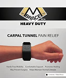 M BRACE RCA - HEAVY DUTY - Carpal Tunnel Treatment Wrist Support (Black) by M BRACE RCA