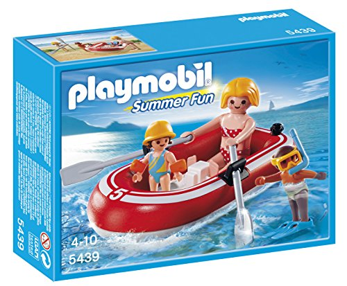 PLAYMOBIL Swimmers with Raft Playset - 1