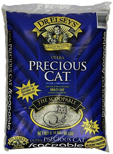 All natural Ultra Premium Clumping Cat Litter Superior odor control,Precious Cat, 18 pound bag, New