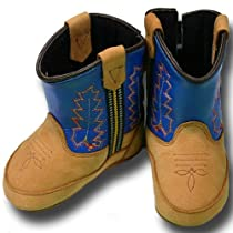 Baby Blue Cowkid Boots - Genuine Leather! (2)