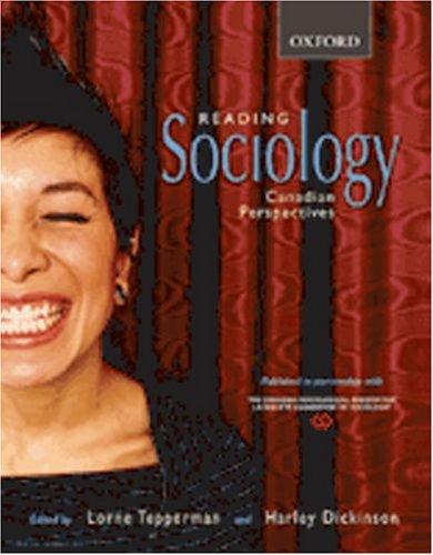Sociology in Canada: A Canadian Sociological Association Reader