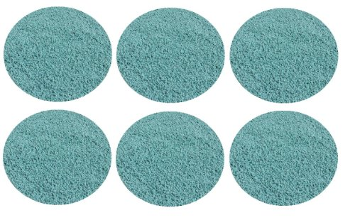 "Set 6 Children'S Crazy Carpet Circle Seats - Soft Aqua Blue/Green 18"" Round Rug Mats front-1065991"